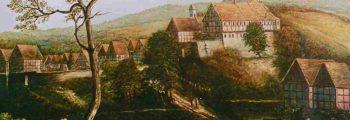 Älteste Darstellung der Stadt Vörden