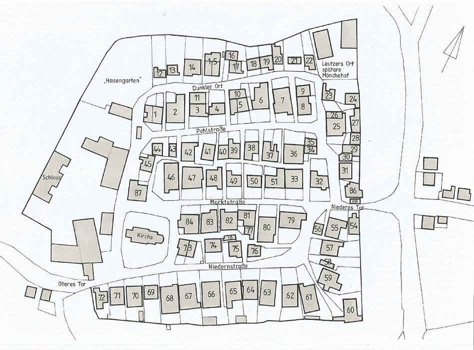 Erstes Haus außerhalb der Stadtmauer gebaut