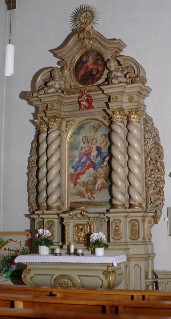 Stiftung des Marienaltars der Kirche