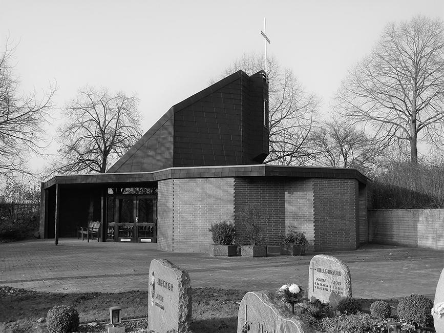 Bau der Friedhofskapelle